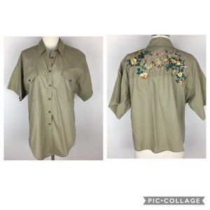 Madewell Button Down Top with Embroidery Large